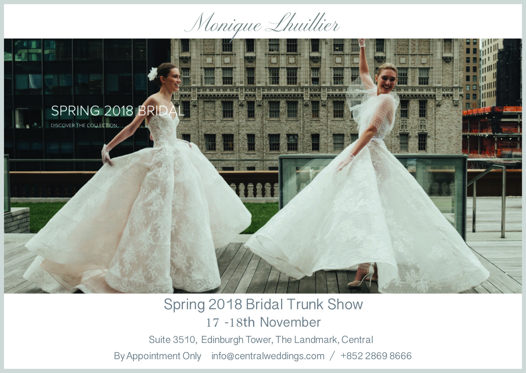 Monique Lhuillier Bridal Trunk Show | Central Weddings